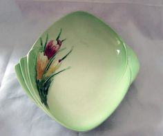 Royal Winton Crocus Green diamond shaped dish