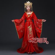 Planning a traditional Chinese wedding ceremony? Honour your heritage by wearing a traditional Chinese wedding dress. Chinese Wedding Dress Traditional, Chinese Traditional Costume, Traditional Fashion, Traditional Dresses, Red Wedding Dresses, Wedding Outfits, Chinese Wedding Dresses, Wedding Chinese, Chinese Kimono