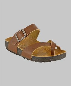 Another great find on #zulily! Brown Wrap Sandal by RK Collection #zulilyfinds