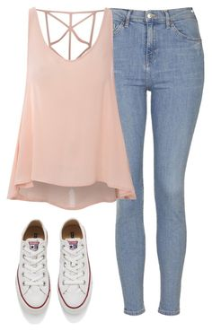 """Quick Set"" by fashion-by-catherine ❤ liked on Polyvore featuring Topshop, Glamorous, Converse, women's clothing, women, female, woman, misses and juniors"