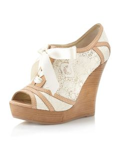 Harmony Lace Wedge, Natural by Seychelles at Last Call by Neiman Marcus.