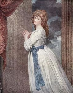Mrs. Jordan in the character of 'The Country Girl'. by Romney