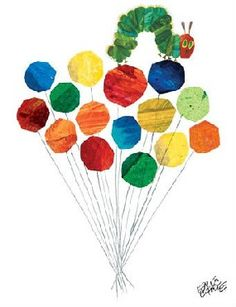 Eric Carle: Caterpillar & Balloons Canvas Wall Art