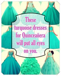 Turquoise Quinceanera dress- These pro tips from social occasions party planners will help you find the right Turquoise Quinceanera dress quickly! Turquoise Quinceanera Dresses, Turquoise Dress, Quince Dresses, True Colors, Looking For Women, Dress For You, Beautiful Day, Dress Patterns, Cute Dresses