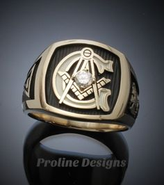 Custom for David S. ~ Scottish Rite Masonic Ring in White Gold with Diamond ~ Style 020 ~ size 10 - ProLine Designs Knights Templar Ring, Masonic Jewelry, Solid Gold, White Gold, Cigar Band, Engraved Rings, Beautiful Gift Boxes, Sterling Silver Rings, Amethyst