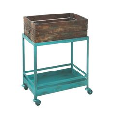 Want to get organized and add a pop of brilliant color at the same time? This cart is the answer to everything. We're imagining a Bed & Breakfast–style display of clean towels and other essentials, but however you incorporate it, this cart is a great centerpiece for a vintage bathroom.