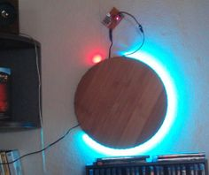 LED clock - could work well with a non-cardboard face
