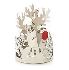 Yankee Candle® Reindeer Chrome Candle Sleeve at www.herbergers.com  $9.99 great for my theme.  I spray painted mine gold to match my theme and turned out great.