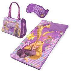 Nwt S Disney Princess Tangled 3 Pc Sleepover Set Sleeping Bag Overnight