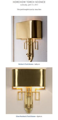 COPY CAT CHIC FIND: Horhow's Torch Sconce VS Glam Furniture's Torch Sconce