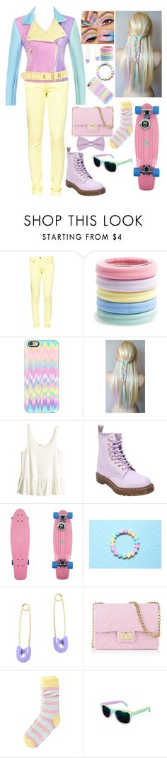 """Pastel"" by teenagedreamergirl ❤ liked on Polyvore featuring Great Plains, L. Erickson, Casetify, H&M, Dr. Martens, Kristin Cavallari, Design Inverso and Happy Socks"