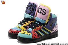 Wholesale Discount Adidas X Jeremy Scott Big Tongue Shoes Color Your Best Choice