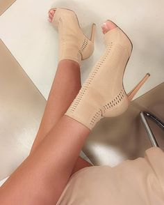 Elegant woman mid-calf boots breathable hollow out Stiletto young lady shoes popular mesh beige stiletto heels Hot Shoes, Crazy Shoes, Me Too Shoes, Shoes Heels, Stiletto Heels, Dress Shoes, Nude Shoes, Heeled Boots, Bootie Boots