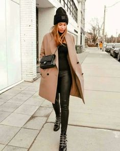 City Outfits, Winter Fashion Outfits, Mode Outfits, Look Fashion, Autumn Winter Fashion, Womens Fashion, Women Fall Outfits, Fashion Coat, Jackets Fashion