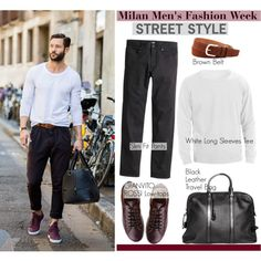 Milan Men's Fashion Week/ Street Style by helenevlacho on Polyvore featuring Gianvito Rossi, H&M, Tom Ford, W.Kleinberg, milanfashionweek, menstreetstyle and SS16
