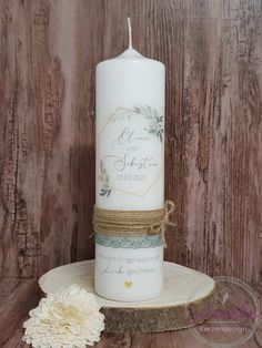 Wedding Unity Candles, Pillar Candles, Personalized Candles, Candle Set, Different Colors, Greenery, Design, Weddings, Lifestyle