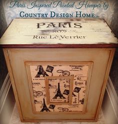 A Paris Inspired Painted Hamper-Ooh La La!!