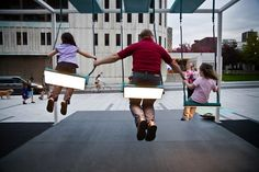 10 playful works of interactive public art - the musical swings and roller coaster staircase are amazing