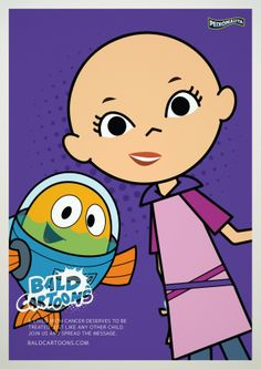 Cartoon Characters From Around the World Go Bald to Sweetly Show Kids With Cancer They're Not Alone