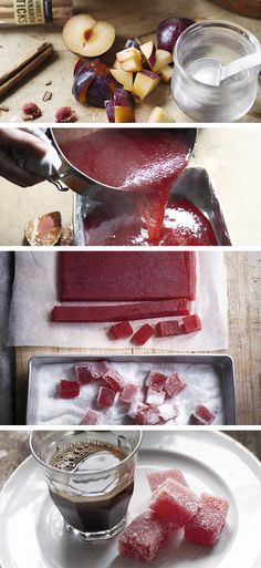 Homemade sugar plum jellies dusted with caster sugar – brilliant as birthday gifts for friends and family. Make this recipe 2-3 days ahead of time to allow the jelly to completely cool and set.
