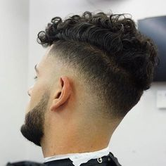 Drop Fade with Curly Hair
