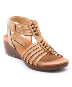 Look what I found on #zulily! Tan Hinder Gladiator Sandal by Bare Traps #zulilyfinds