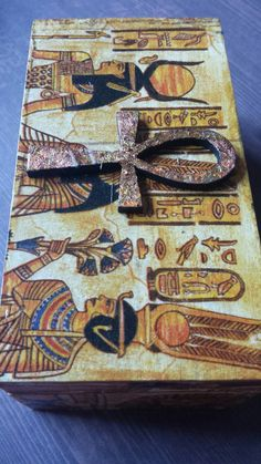 Egyptian ankh antique looking jewellery box by TreensTrinkets