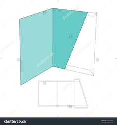 Folder With Die Cut Layout Stock Vector Illustration 193596032 : Shutterstock