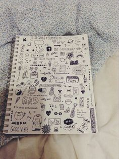 Pics for notebook doodles tumblr for Tumblr hand doodles