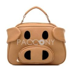 BBAO - Cute Fashion Pig Head Shaped Tote Bags with Strap on http://www.paccony.com/product/BBAO-Cute-Fashion-Pig-Head-Shaped-Tote-Bags-with-Strap-23604.html