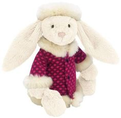 Jellycat Winter Wonderland Bunny: She's ready for the cold in her cozy winter sweater! #YoYo #toys