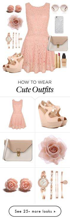 """cute outfit"" by ambershad on Polyvore featuring Yumi, 8, Chloé, Felony Case, Accessorize, Anne Klein, Too Faced Cosmetics, women's clothing, women and female"