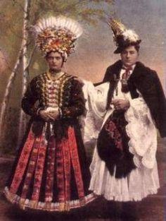 Northern Hungary - Matyo folk costumes (date unknown)