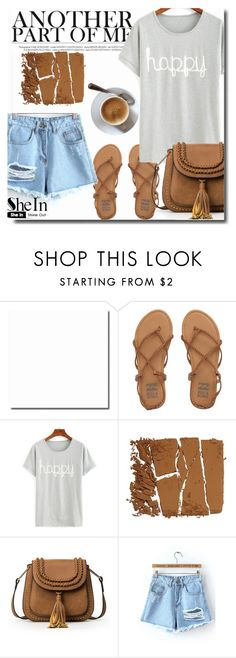 """""""SheIn 5/4"""" by goldenhour ❤ liked on Polyvore featuring Billabong, shorts, bag, Sheinside, shirt and shein"""