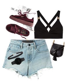 """""""DWP DJAKARTA WAREHOUSE PROJECT"""" by julyan-c-pratiwi ❤ liked on Polyvore featuring T By Alexander Wang, Puma, Chloé, Humble Chic and CLUSE"""