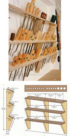 Wood Carving Tool Rack - Wood Carving Patterns and Techniques | WoodArchivist.com