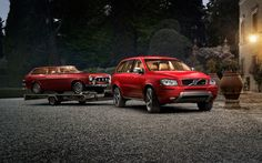 miuratarophotography:  VOLVO XC90   Fantastic image… Red Volvo towing a Red Volvo…