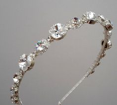 Swarovski  crystal  headband wedding headbandcrystal by ZTetyana