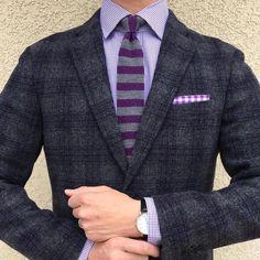 """Headless Mannequin on Instagram: """"Let Purple Reign Blazer: @uniqlousa Shirt: @ralphlauren Tie & PS: @jcrew Watch: @mademenla #yaosootd #wiwt #ootd #styleiswhat #stylegram #suits #blazer #tie #suitandtie #pocketsquare #dandy #jcrew #suitup #mensweardaily #mnswr #instawardrobe #instagood #sprezzatura #dailystyle #potd #photooftheday #styleformen #igdaily #hqmensfashion #gentsbook #gqreport #instadaily #uniqlo #mademenla"""""""