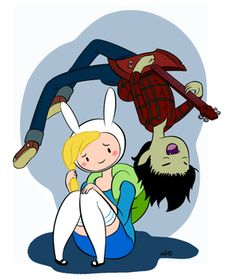Marshall lee and Fiona - adventure-time-with-finn-and-jake Photo