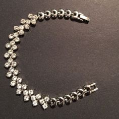 "SILVER CZ BRACELET Very Pretty! Silver Cubic Zirconia bracelet. Why not add bling and glamour to your arm at a fraction of the price? 7"". ⚫️NO TRADE. NO PAYPAL⚫️ Jewelry Bracelets"