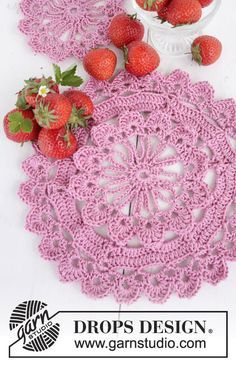 When Spring Comes Placemat By DROPS Design - Free Crochet Pattern - (garnstudio)