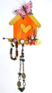 Regalo de casita porta collares para el día de la madre ~ cositasconmesh
