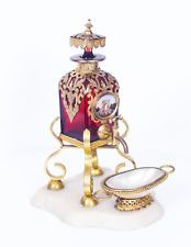 Antique French Ruby Glass & Ormolu Mounted Scent Bottle 19th C