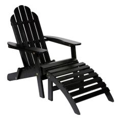 Steamer Chair and Footrest by Bloomingville @ Design Vintage in Black, Grey or White Outdoor Chairs, Outdoor Furniture, Outdoor Decor, Palette, Magnolias, Foot Rest, Garden Inspiration, Garden Ideas, Oahu
