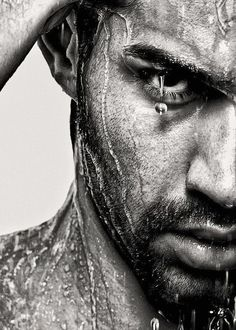 PT: Rarely can I find men portrait that catches my attention. But for once, the eyes , his expression and the water caught my attention.     Water always changes things...incredible portrait.