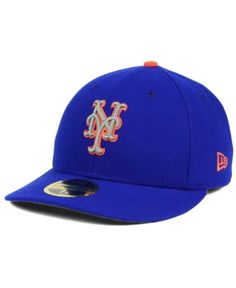9580b27f31d New Era New York Mets Low Profile Ac Performance 59FIFTY Fitted Cap - Blue  6 7 8