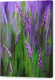 Lavender Garden Canvas Print by Kume Bryant