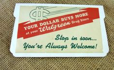 Vintage Walgreen Advertising Needle Case by WhatnotsAndFancifuls
