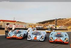 Photographs of the 1969 Porsche 917 K. An image gallery of the . Real Car Racing, Sports Car Racing, Racing Team, Auto Racing, Porsche, Le Mans, Ferrari, Martini Racing, Cool Motorcycles